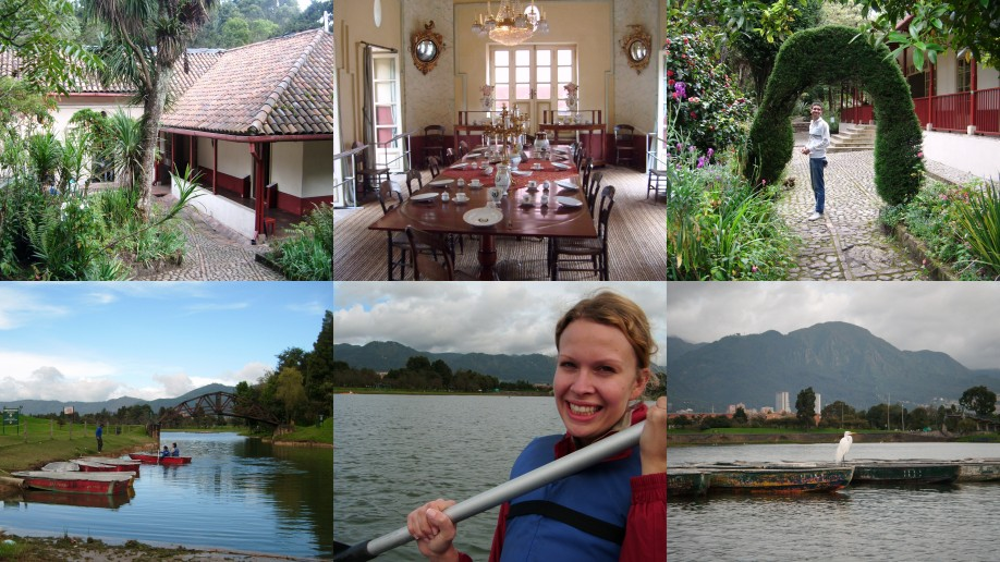 Lost gardens and terrible rowing... Bogota, Colombia