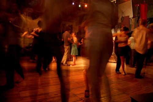 FORBIDDEN PASSION: Couples learn to tango in a discreet warehouse in Buenos Aires, Argentina